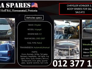 Chrysler Voyager 3.3 used body spares for sale