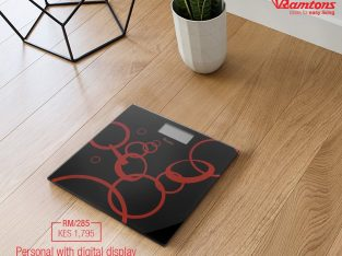 BLACK AND RED ELECTRONIC WEIGHING SCALE