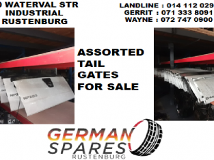 Assorted tail gates for sale