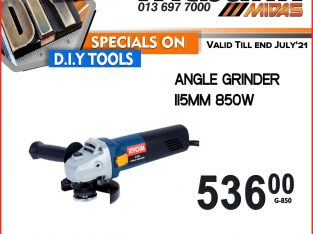 Ryobi Angle Grinder 115MM 850W ONLY R536 at Midas Witbank!