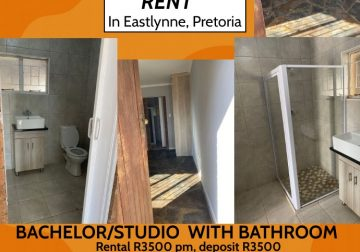 Bachelor/Studio with bathroom apartment R3500pm in Eastlynne