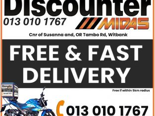 FREE & Fast Delivery at Discounter Midas! T's & C's Apply!