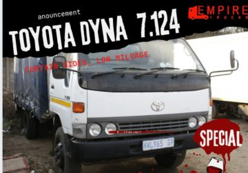 Toyota Dyna 4ton tautliner truck