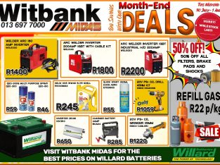 Big Savings with our Month-End Deals at Midas Witbank