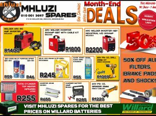 Big Savings with our Month-End Deals at Mhluzi Spares