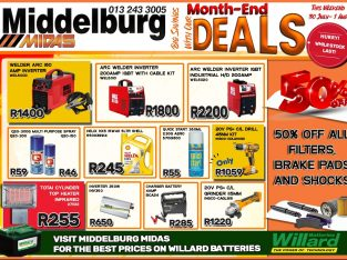 Big Savings with our Month-End Deals at Middelburg Midas