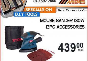 Ryobi Mouse Sander 130W 13PC Accessories ONLY R439