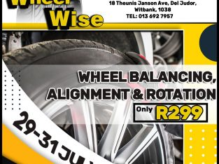 Wheel Balancing, Alignment & Rotation ONLY R299 at Wheel Wise