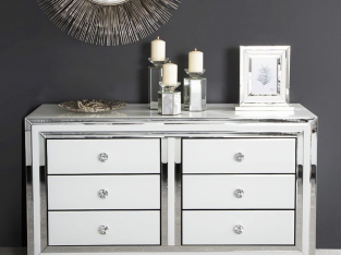 Blanca Mirror Chest of 6 Drawers