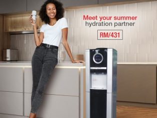 HOT AND COLD+FRIDGE FREE STANDING WATER DISPENSER