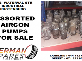 Assorted aircon pumps for sale