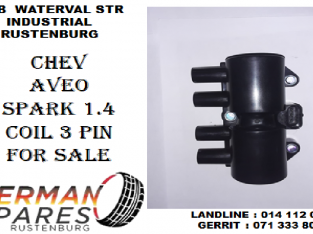 Chev Aveo/Spark 1.4 coil 3 pin for sale