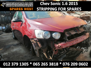 Chev Sonic 1.6 2015 Stripping for USED Spares