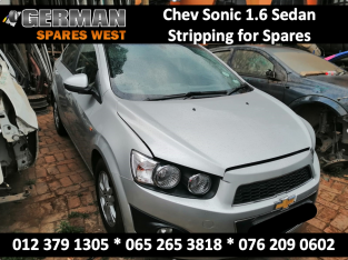 Chev Sonic 1.6 Stripping for USED Spares