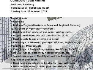 Student Candidate Town Planner