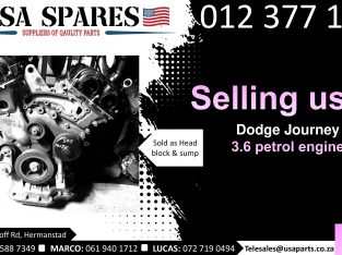 Dodge Journey 3.6 petrol 2007-19 used engines for sale
