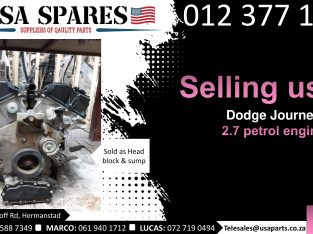Dodge Journey 2.7 petrol 2007-19 used engines for sale