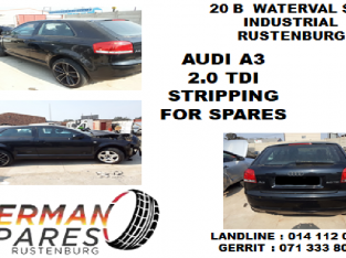 Audi A3 2.0 TDI stripping for spares