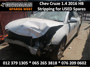 Chev Cruze 1.4 2016 Stripping for USED Spares