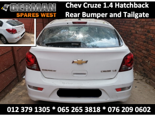 Chev Cruze 1.4 Hatchback USED Rear Bumper and Tailgate