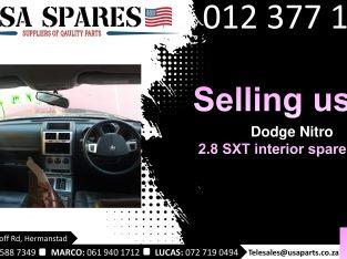 Dodge Nitro 2.8 SXT 2007-13 used interior spare parts for sale