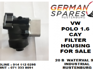 Vw Polo 1.6 CAY filter housing for sale