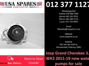 Jeep Grand Cherokee 3.0 WK2 2011-21 new water pumps for sale