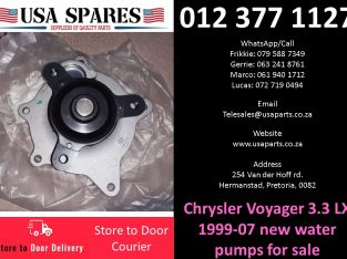Chrysler Voyager 3.3 LX 1999-07 new water pumps for sale