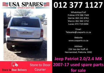 Jeep Patriot 2.0/2.4 MK 2007-17 used spare parts for sale