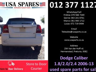 Dodge Caliber 1.8/2.0/2.4 sxt 2006-13 used spare parts for sale