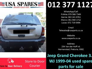 Jeep Grand Cherokee 3.1 WJ 1999-04 used spare parts for sale