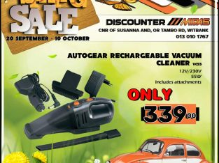 Autogear Rechargeable Vacuum Cleaner ONLY R339!