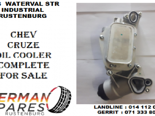 Chev Cruze oil cooler complete for sale