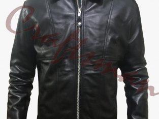 Bunny Pointer Napa Shirt Collar Leather Jacket