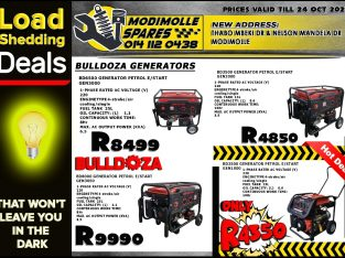 Loadshedding Deals now on at Modimolle Spares!
