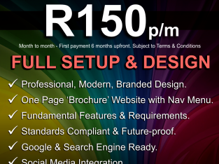 Website, Domain, Email @ R150pm