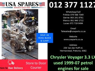Chrysler Grand Voyager 3.3 LX 1999-07 used petrol engines