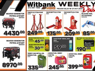 WEEKLY DEALS at Midas Witbank! Prices valid 18-21Oct 2021!